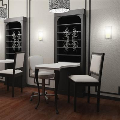 Tulle manicure table - Decoration table salon ...
