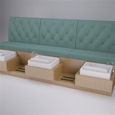 Girls best friend pedicure bench for Nail salon benches