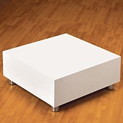 Square White Gloss Display Platform